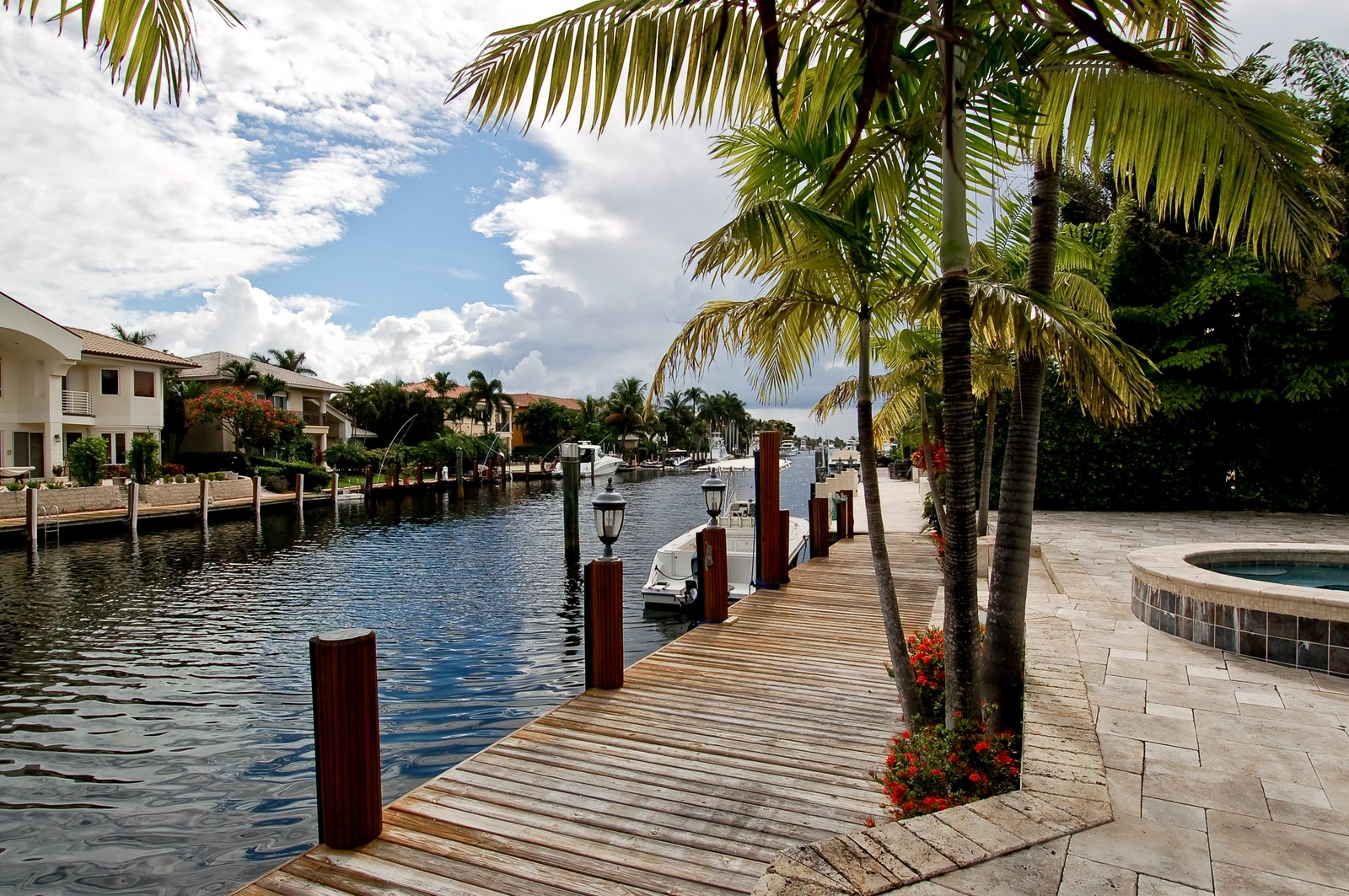 Real Estate Photography - 2325 NE 28th Ct, Lighthouse Point, FL, 33064 - Dock
