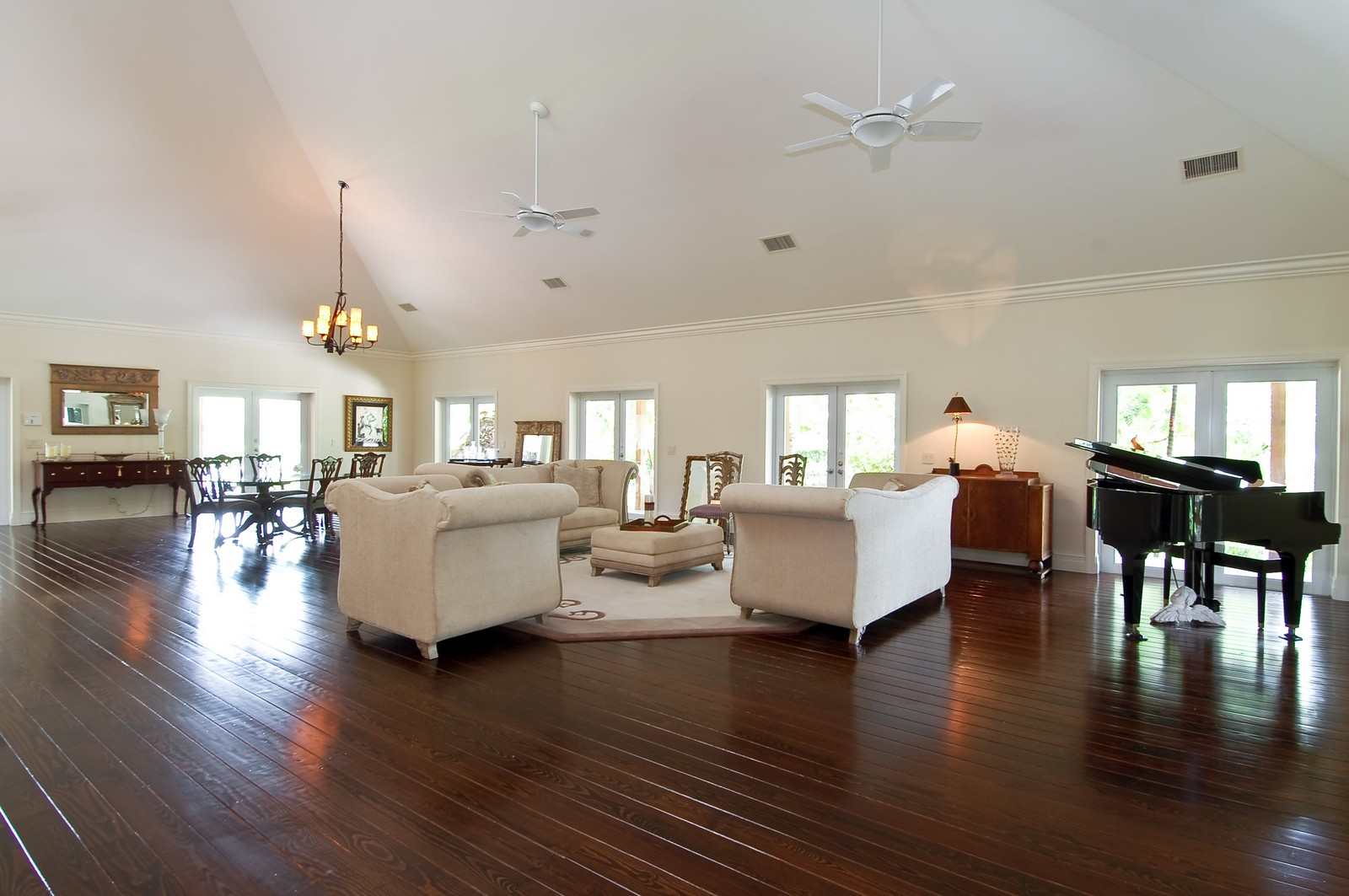 Real Estate Photography - 12800 SW 33RD DRIVE, DAVIE, FL, 33330 - Living Room / Dining Room