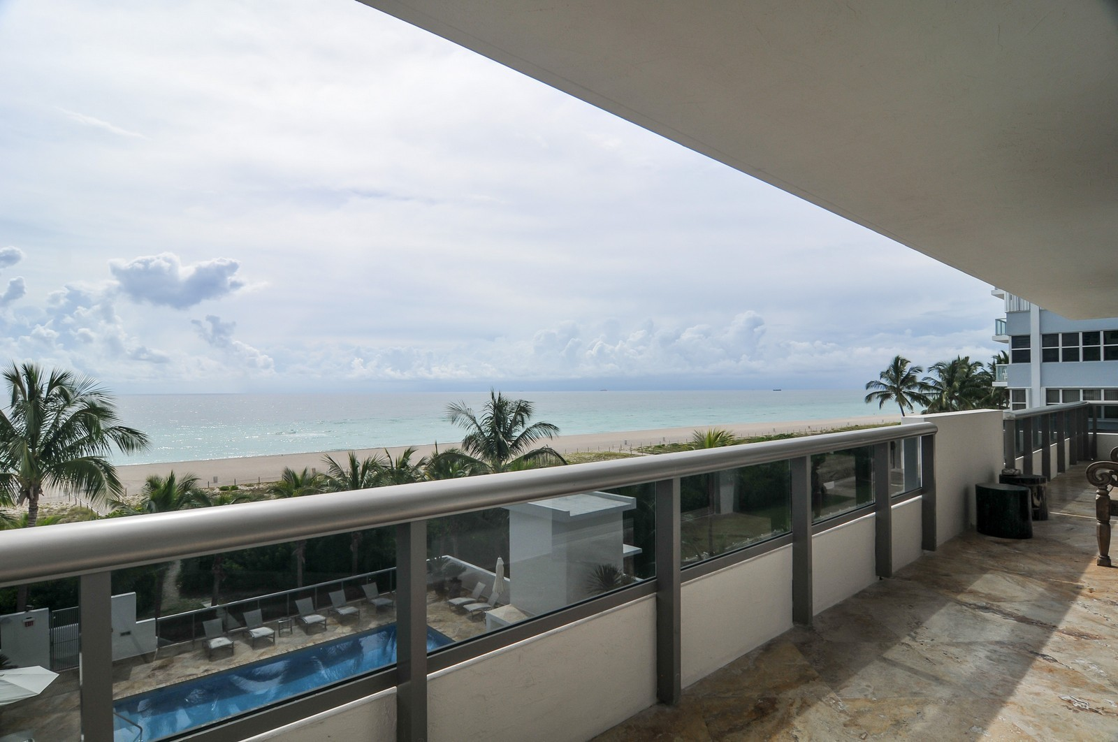 Real Estate Photography - 5801 Collins Ave, Unit 500, Miami Beach, FL, 33140 - Terrace