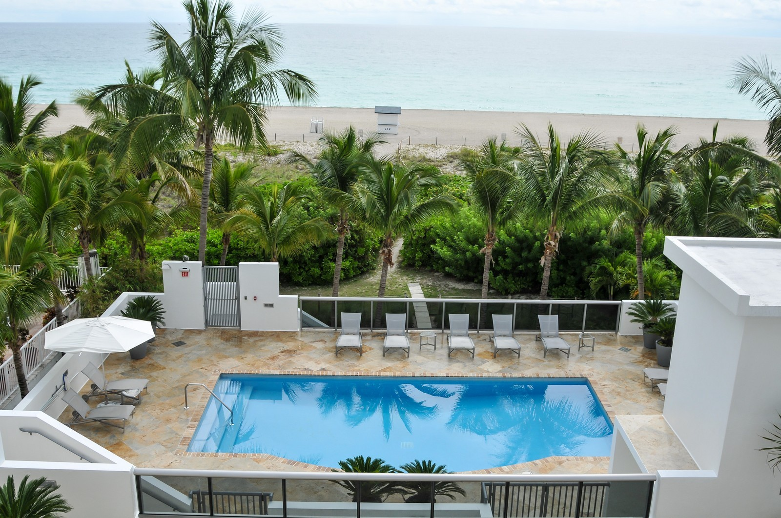 Real Estate Photography - 5801 Collins Ave, Unit 500, Miami Beach, FL, 33140 - Pool