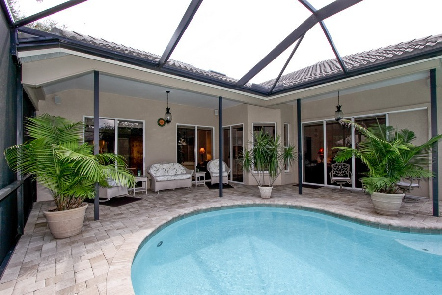 Real Estate Photography - 12010 Wedge Drive, Fort Myers, FL, 33913 - Patio