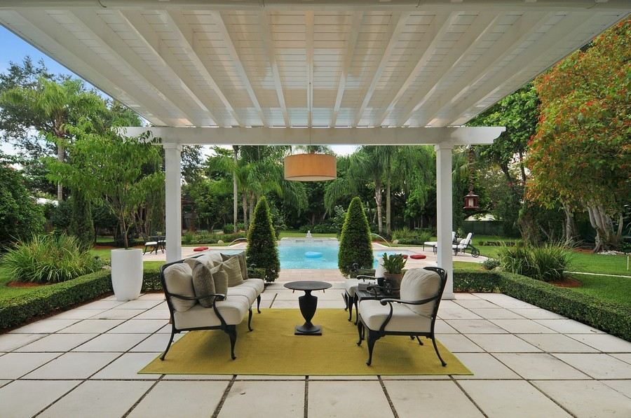 Real Estate Photography - 5978 Miller Rd, South Miami, FL, 33155 - Terrace