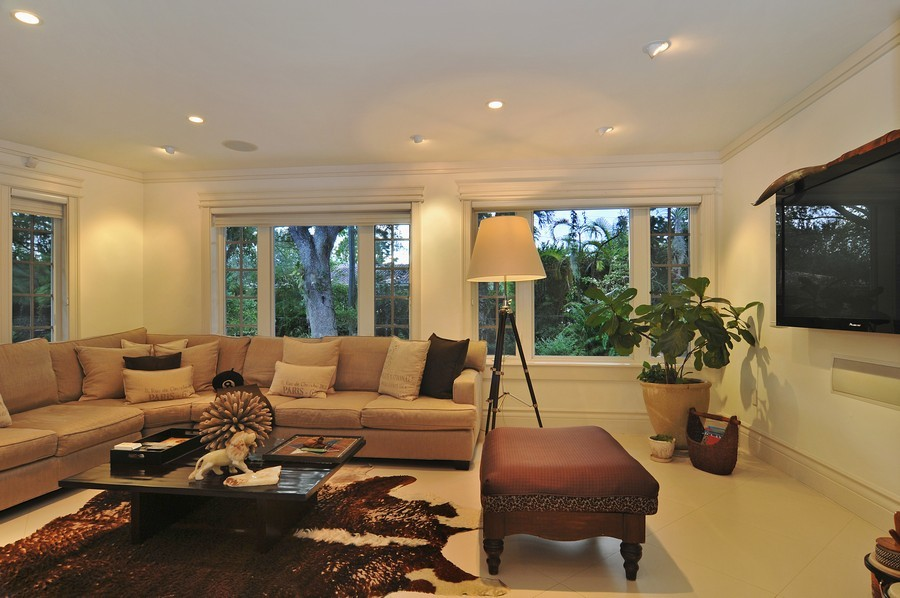 Real Estate Photography - 5978 Miller Rd, South Miami, FL, 33155 - Media Room