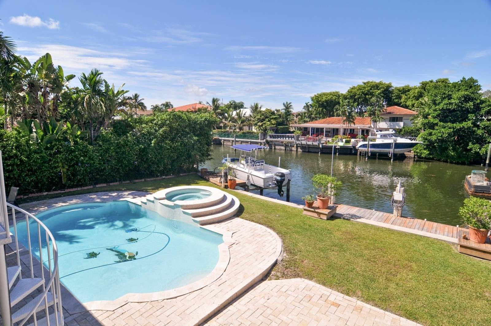 Real Estate Photography - 2010 NE 121st Rd, Miami, FL, 33181 - Canal View