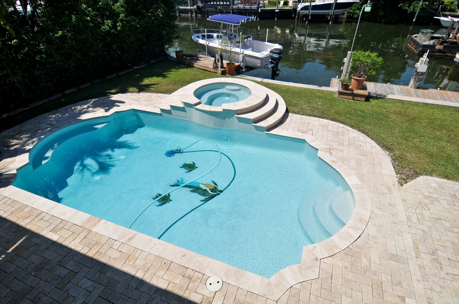 Real Estate Photography - 2010 NE 121st Rd, Miami, FL, 33181 - Pool