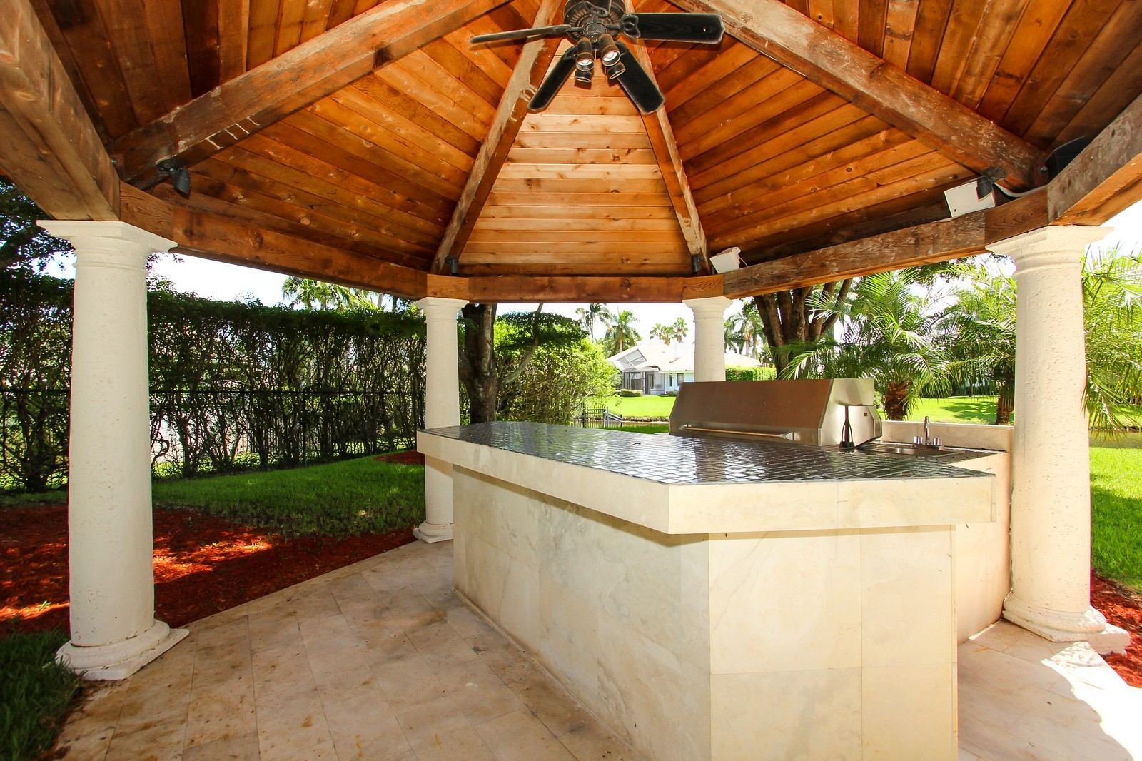 Real Estate Photography - 7015 Ayrshire Ln, Boca Raton, FL, 33496 - Summer Kitchen