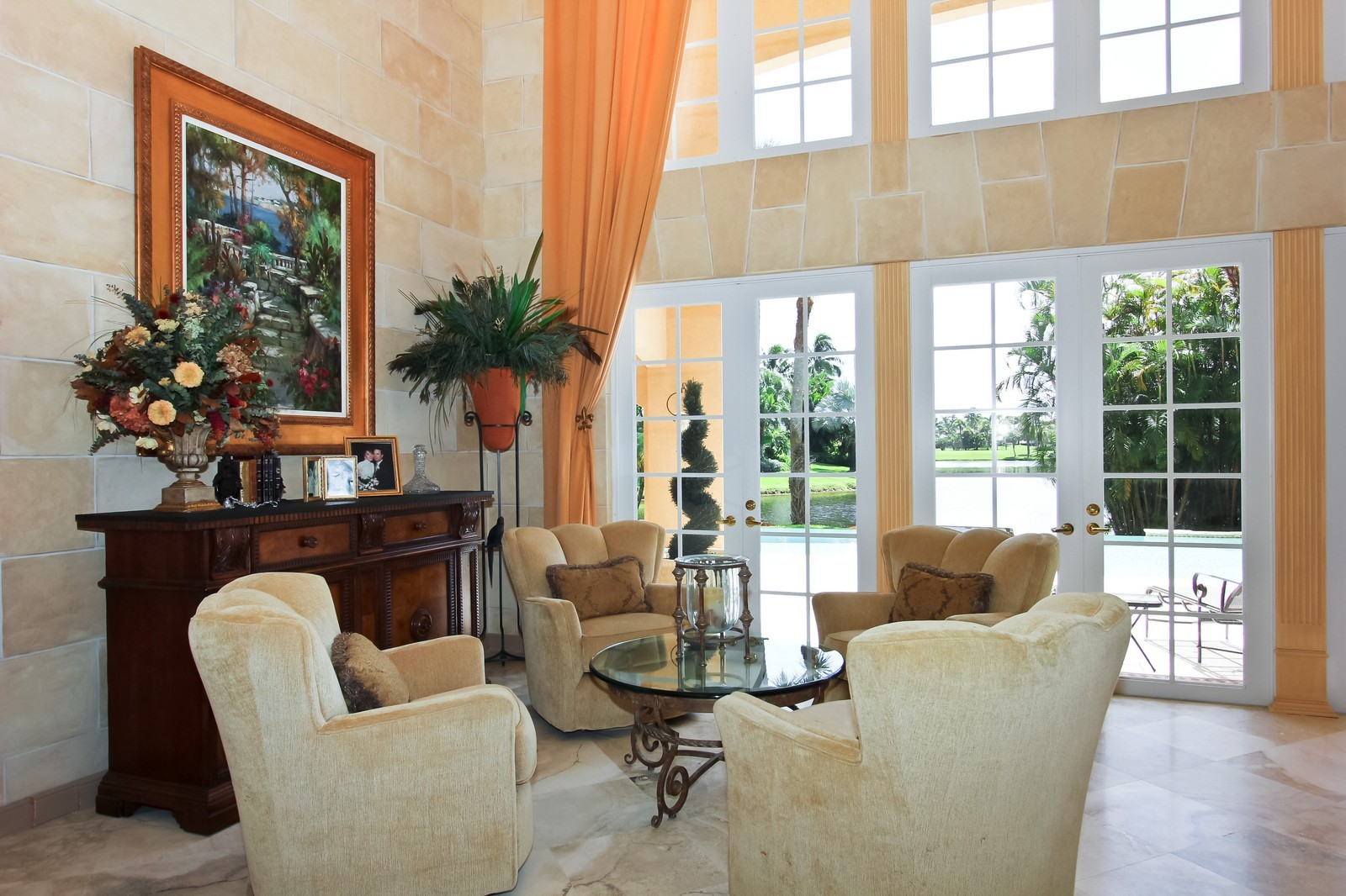 Real Estate Photography - 7015 Ayrshire Ln, Boca Raton, FL, 33496 - Living Room Seating Area