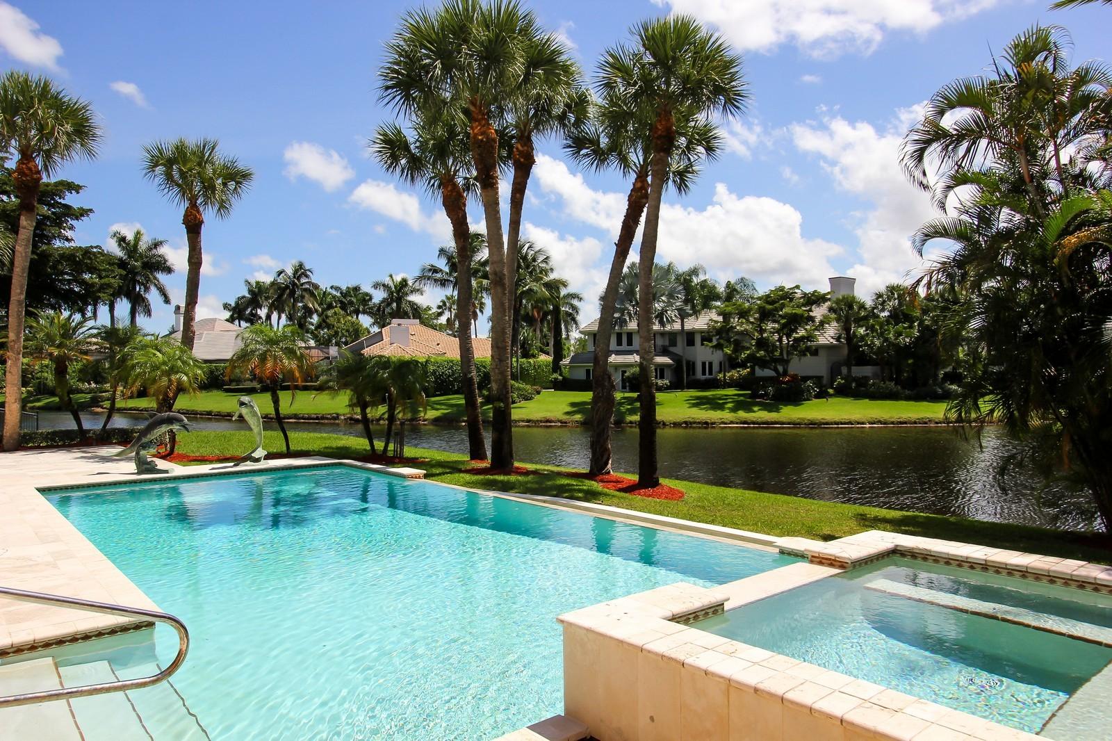 Real Estate Photography - 7015 Ayrshire Ln, Boca Raton, FL, 33496 - Pool