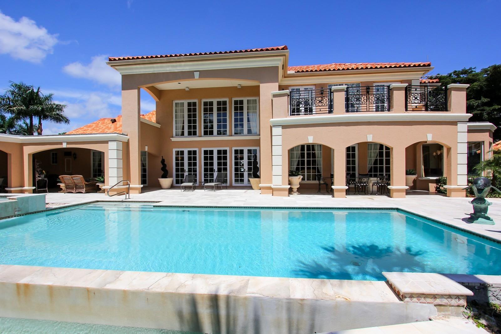 Real Estate Photography - 7015 Ayrshire Ln, Boca Raton, FL, 33496 - Rear View
