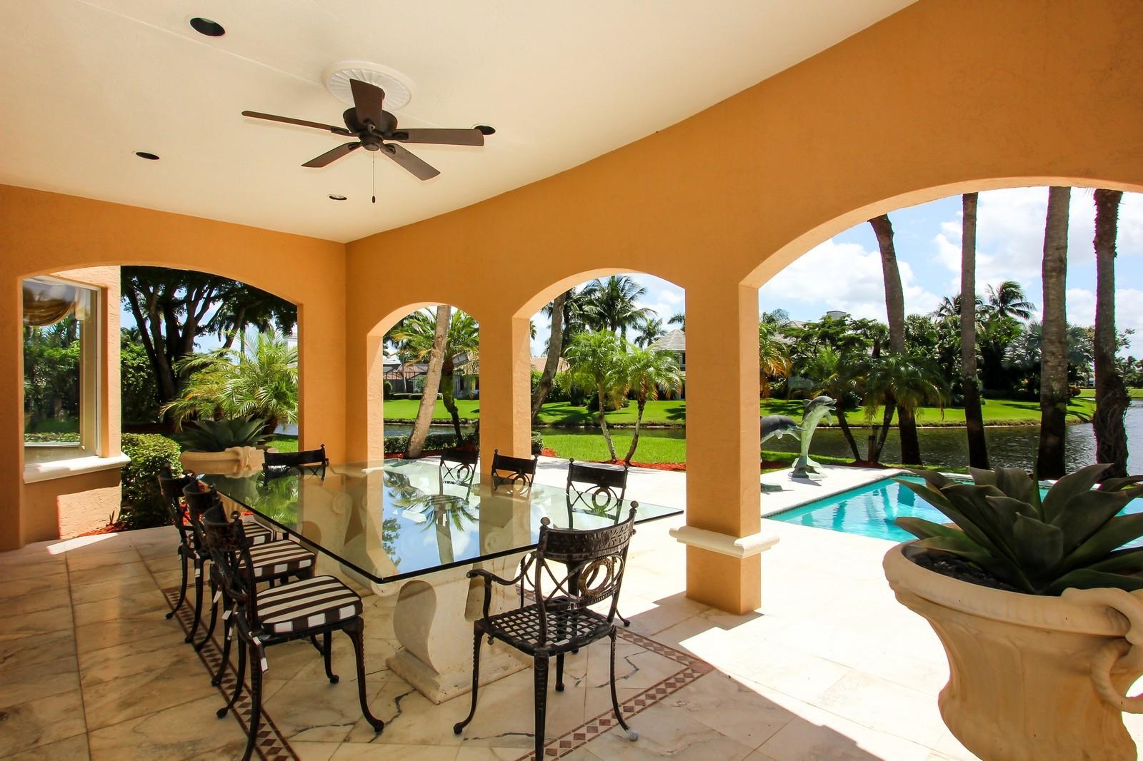 Real Estate Photography - 7015 Ayrshire Ln, Boca Raton, FL, 33496 - Loggia