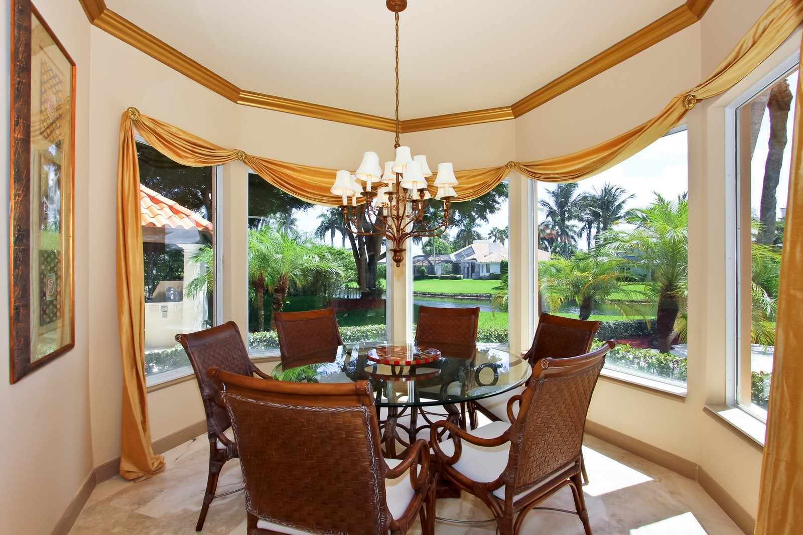 Real Estate Photography - 7015 Ayrshire Ln, Boca Raton, FL, 33496 - Breakfast Nook