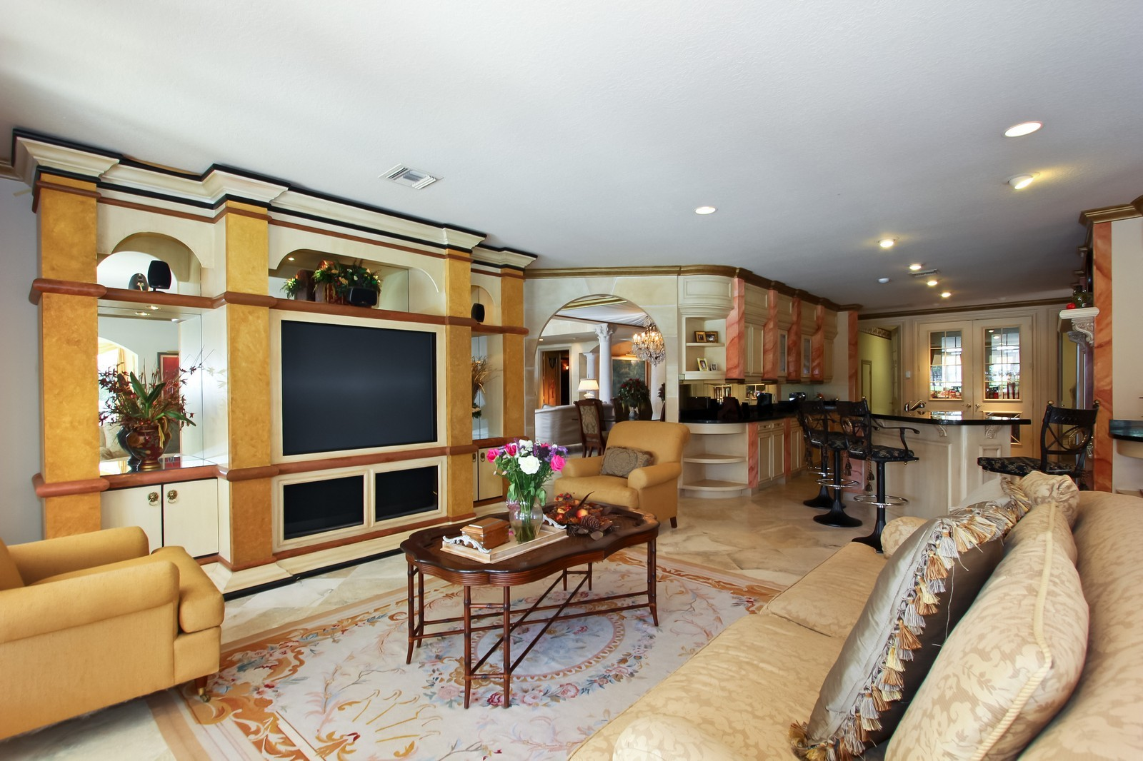 Real Estate Photography - 7015 Ayrshire Ln, Boca Raton, FL, 33496 - Family Room / Kitchen
