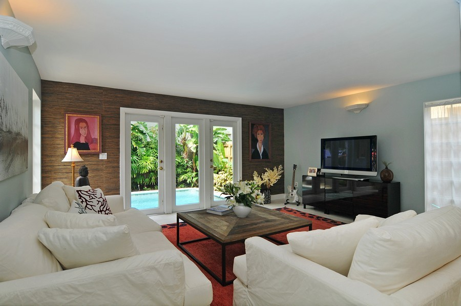 Real Estate Photography - 3015 Orange St, Miami, FL, 33133 - Living Room
