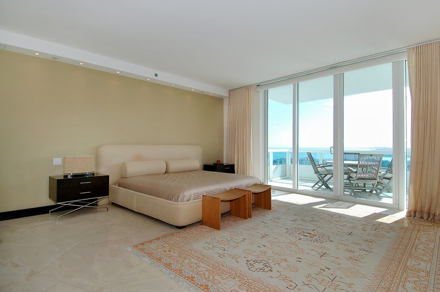 Real Estate Photography - 1000 S Pointe Drive, #2802, Miami Beach, FL, 33139 - Master Bedroom