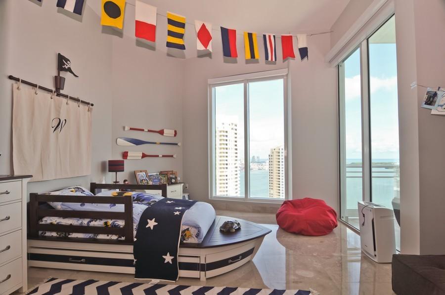 Real Estate Photography - 900 Brickell Key Blvd, Apt 3004, Miami, FL, 33131 - Kids Bedroom