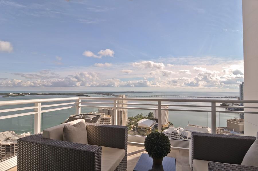 Real Estate Photography - 900 Brickell Key Blvd, Apt 3004, Miami, FL, 33131 - Balcony