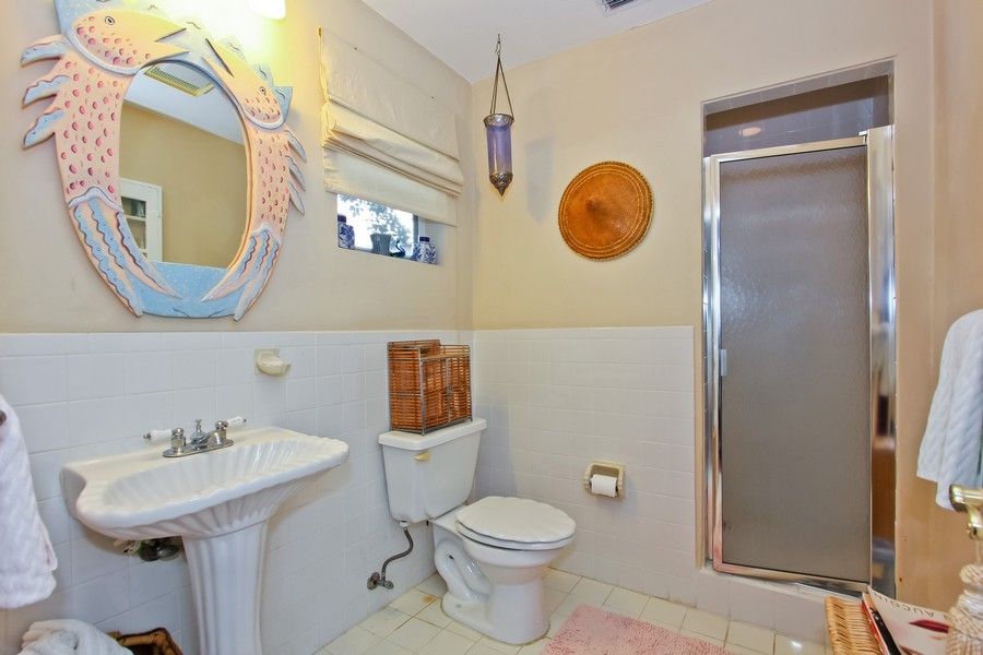 Real Estate Photography - 108 Olympus Way, Jupiter, FL, 33477 - Guest House Bathroom