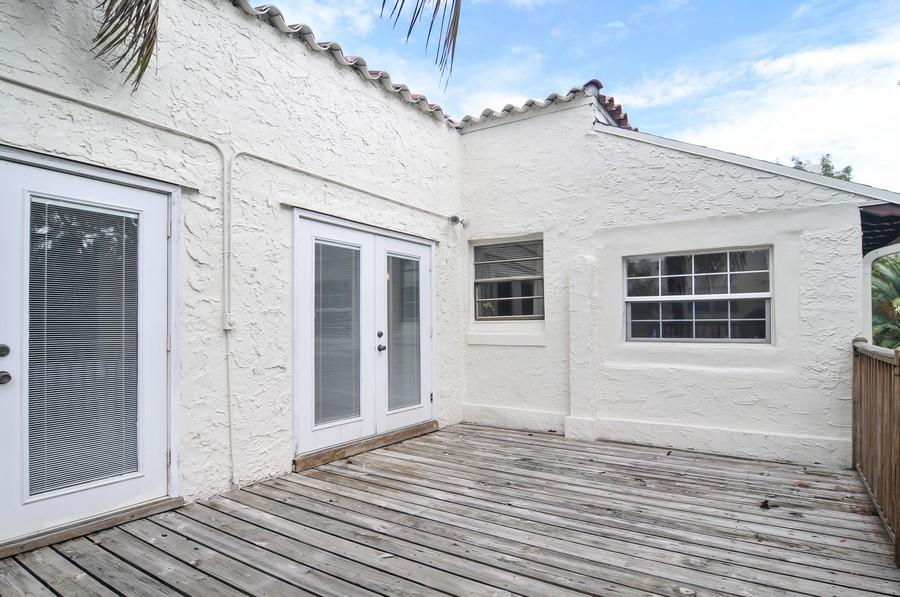 Real Estate Photography - 4174 Alton Rd, Miami Beach, FL, 33140 - Terrace