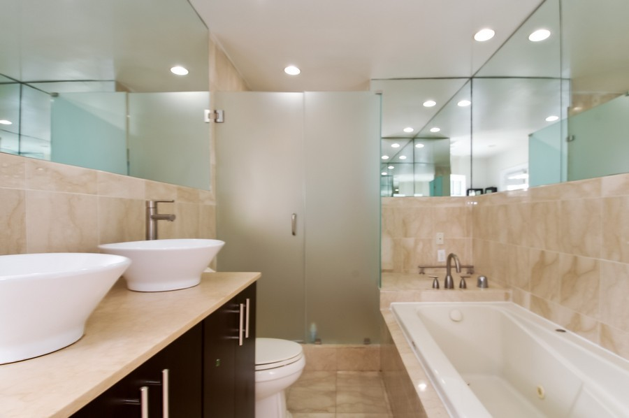 Real Estate Photography - 5455 N Bay Road, Miami Beach, FL, 33140 - Master Bathroom