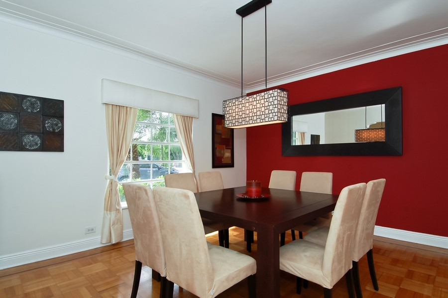 Real Estate Photography - 5455 N Bay Road, Miami Beach, FL, 33140 - Dining Room