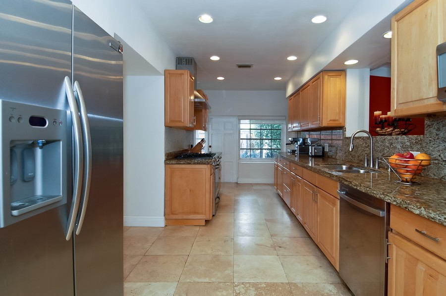 Real Estate Photography - 5455 N Bay Road, Miami Beach, FL, 33140 - Kitchen