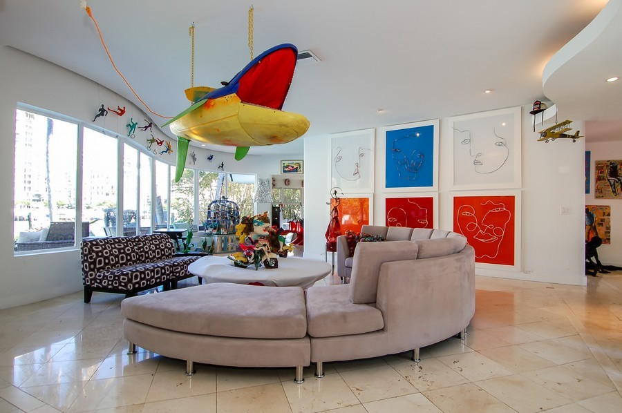 Real Estate Photography - 5777 Pinetree Drive, Miami Beach, FL, 33140 - Living Room
