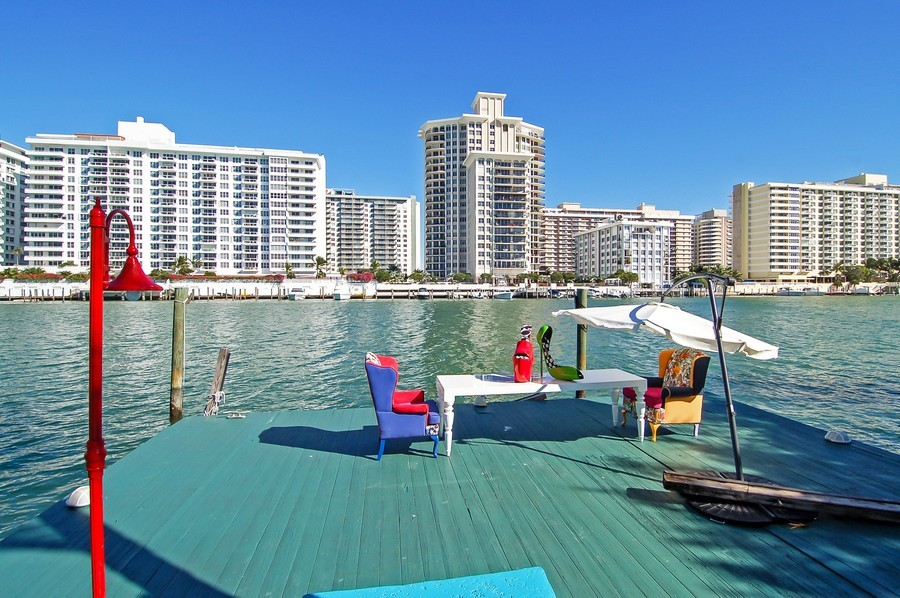 Real Estate Photography - 5777 Pinetree Drive, Miami Beach, FL, 33140 - Dock