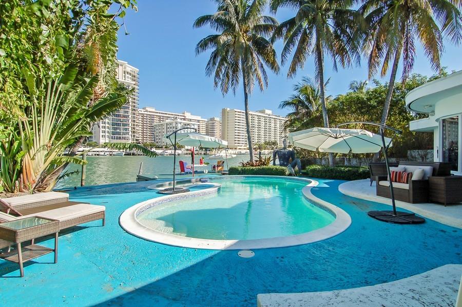 Real Estate Photography - 5777 Pinetree Drive, Miami Beach, FL, 33140 - Pool
