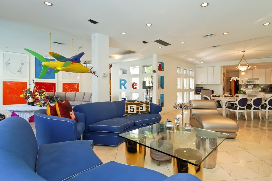 Real Estate Photography - 5777 Pinetree Drive, Miami Beach, FL, 33140 - Family Room