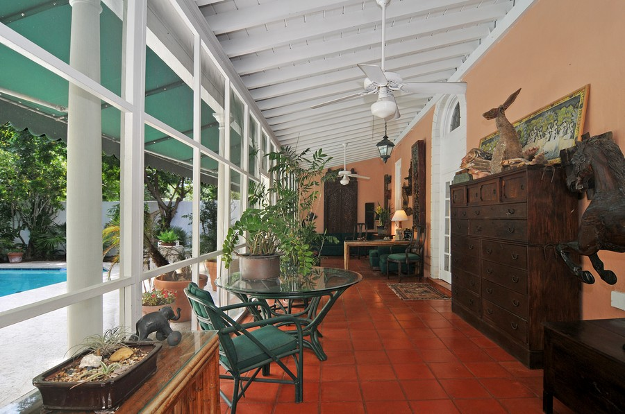 Real Estate Photography - 6705 San Vicente Street, Coral Gables, FL, 33146 - Terrace