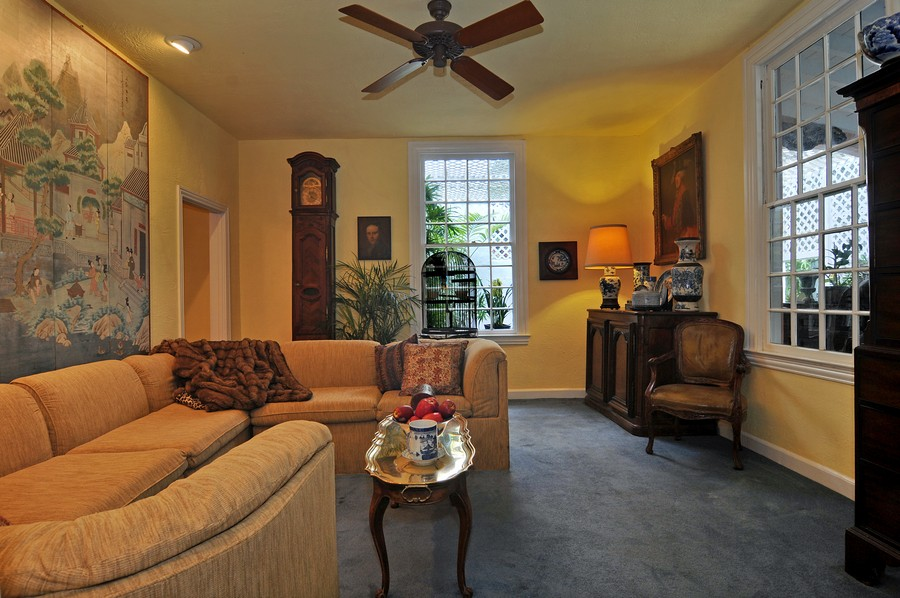 Real Estate Photography - 6705 San Vicente Street, Coral Gables, FL, 33146 - Family Room