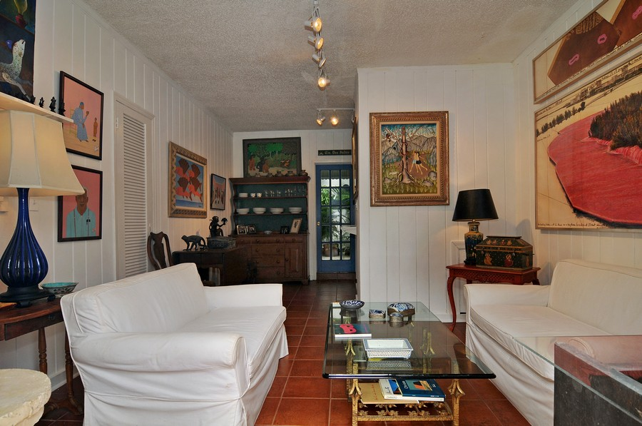 Real Estate Photography - 6705 San Vicente Street, Coral Gables, FL, 33146 - Guest House Living Room