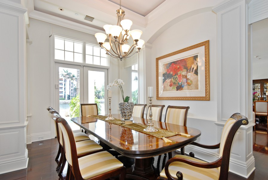 Real Estate Photography - 135 Spanish Trail, Boca Raton, FL, 33432 - Dining Room
