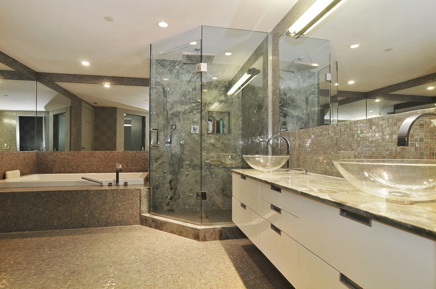 Real Estate Photography - 9401 Collins Ave, Unit 906, Surfside, FL, 33154 - Master Bathroom
