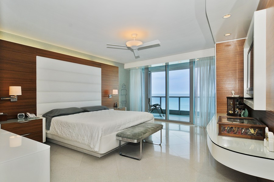 Real Estate Photography - 9401 Collins Ave, Unit 906, Surfside, FL, 33154 - Master Bedroom
