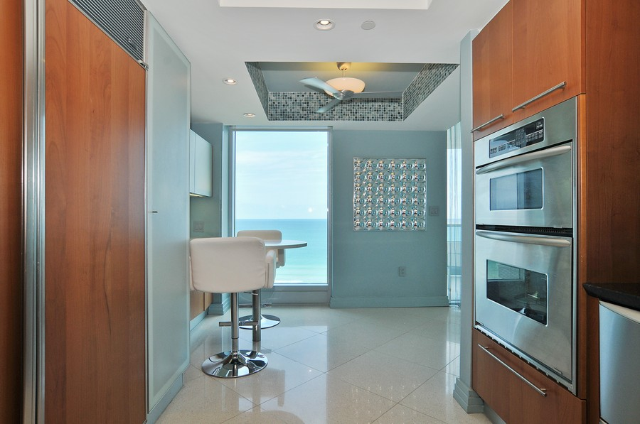 Real Estate Photography - 9401 Collins Ave, Unit 906, Surfside, FL, 33154 - Kitchen / Breakfast Room