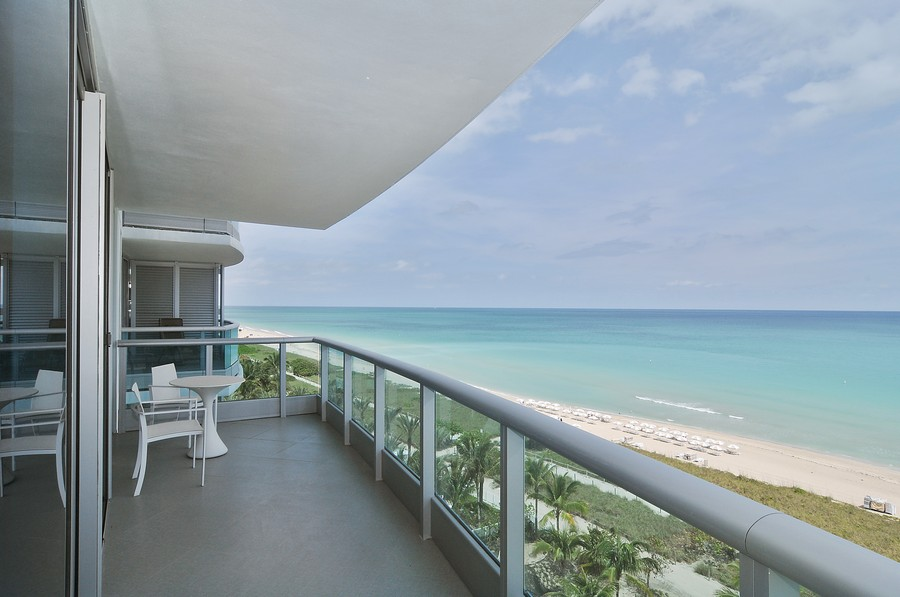 Real Estate Photography - 9401 Collins Ave, Unit 906, Surfside, FL, 33154 - Balcony