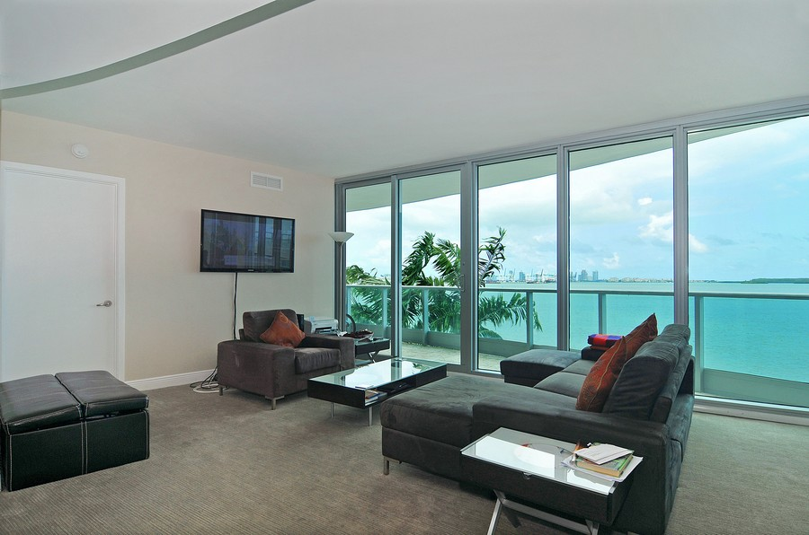 Real Estate Photography - 1331 Brickell Bay, Unit BL-33, Miami, FL, 33131 - Living Room