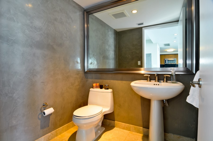 Real Estate Photography - 1331 Brickell Bay, Unit BL-33, Miami, FL, 33131 - 2nd Bathroom