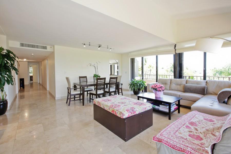 Real Estate Photography - 151 Crandon, Apt 345, Key Biscayne, FL, 33149 - Living Room