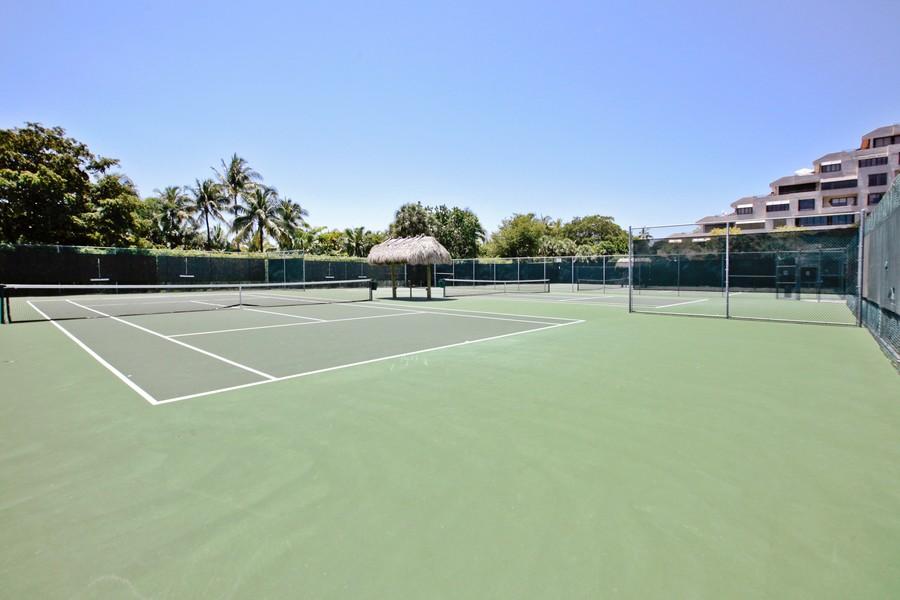 Real Estate Photography - 151 Crandon, Apt 345, Key Biscayne, FL, 33149 - Tennis Court