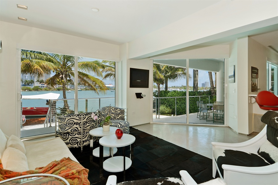 Real Estate Photography - 302 S Coconut Lane, Miami Beach, FL, 33139 - Living Room