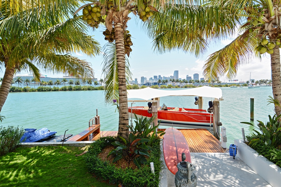 Real Estate Photography - 302 S Coconut Lane, Miami Beach, FL, 33139 - Dock