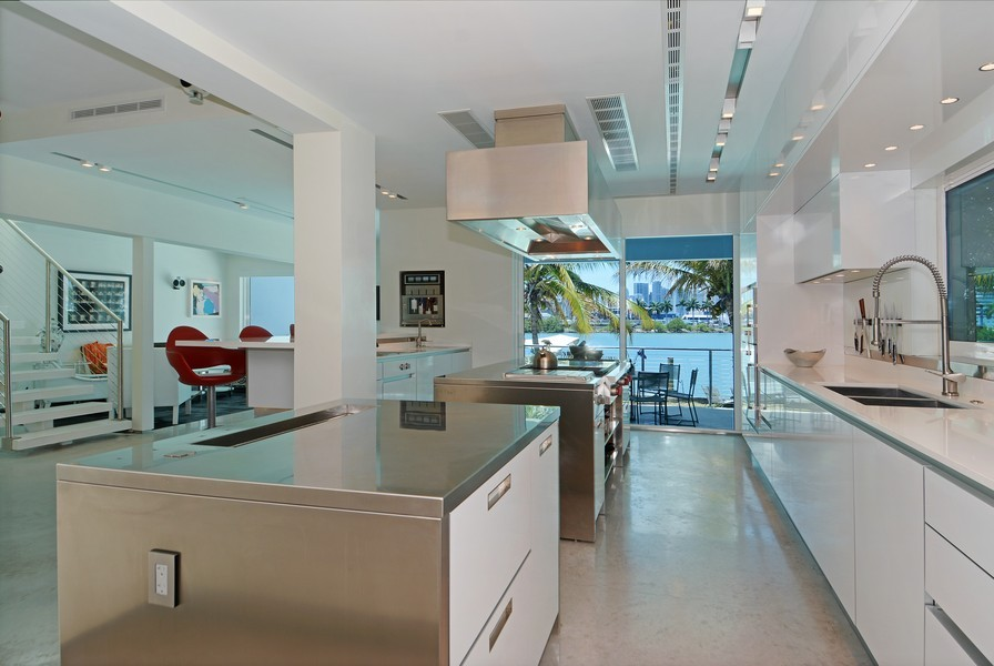 Real Estate Photography - 302 S Coconut Lane, Miami Beach, FL, 33139 - Kitchen