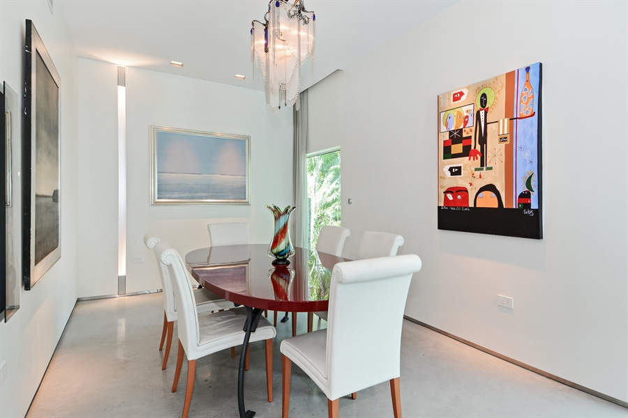 Real Estate Photography - 302 S Coconut Lane, Miami Beach, FL, 33139 - Dining Room