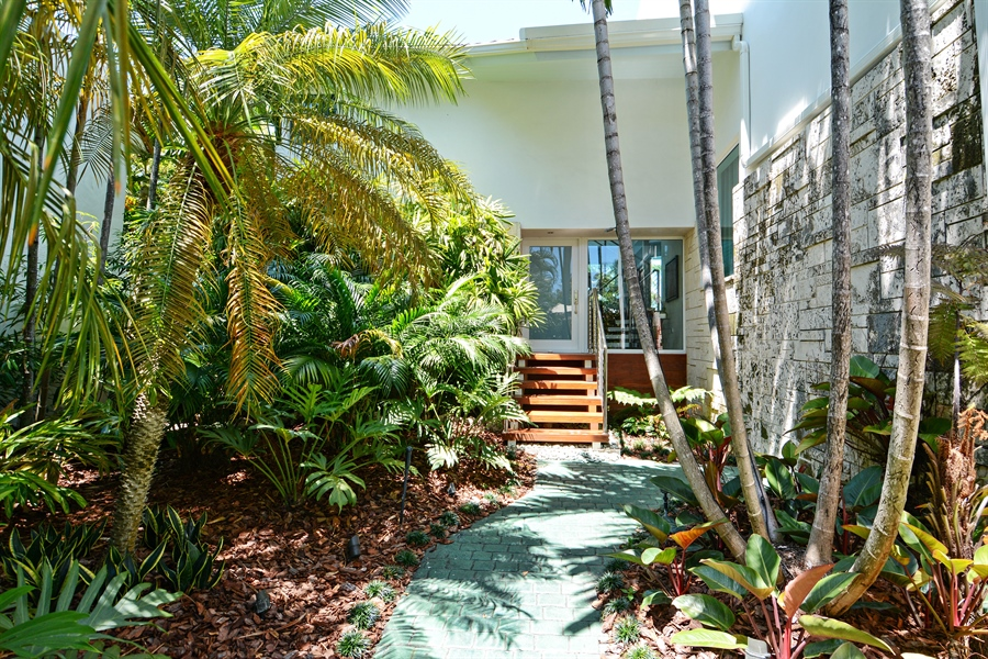 Real Estate Photography - 302 S Coconut Lane, Miami Beach, FL, 33139 - Entrance