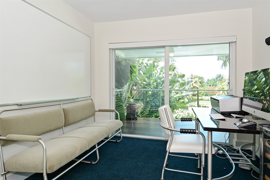 Real Estate Photography - 302 S Coconut Lane, Miami Beach, FL, 33139 - Office/Bedroom