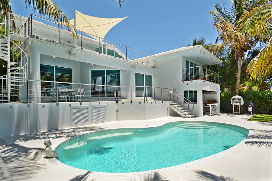 Real Estate Photography - 302 S Coconut Lane, Miami Beach, FL, 33139 - Rear View