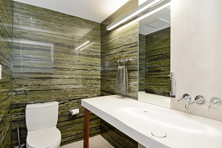 Real Estate Photography - 302 S Coconut Lane, Miami Beach, FL, 33139 - Bathroom