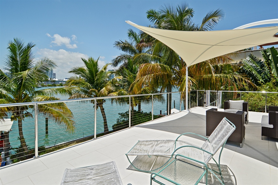 Real Estate Photography - 302 S Coconut Lane, Miami Beach, FL, 33139 - Roof Terrace